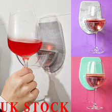 1PC Bath&Shower Portable Suction Cup Holder Caddy For Beer Wine Cans Glass Clear