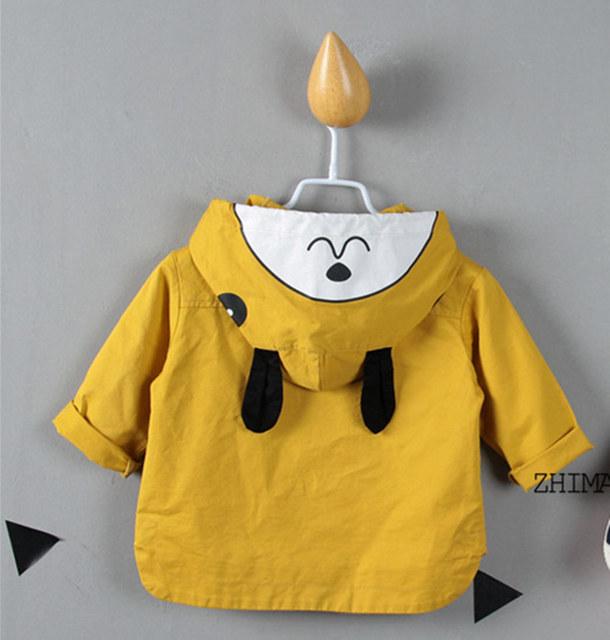 De los bebés/de los muchachos niños de primavera 3 de color capa de la rebeca de los niños clothing abrigos de dibujos animados