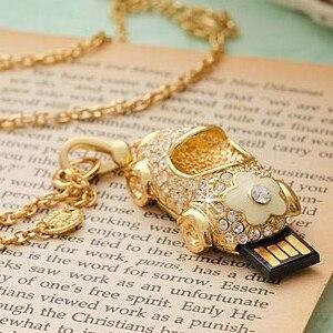 Jewelry Diamond Crystal Necklace 512 GB USB Flash Drive 128GB Memory Stick Pen Drive 64GB Pendrive 32GB USB Key 512GB Gift