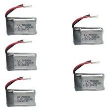 5 pçs/set 3.7V 300 mAH Lipo Bateria Para E55 FQ777 FQ17W Hubsan H107 Syma X11C U816 U830 Udi RC helicóptero 3.7V 300 mAH MX2.0 plug