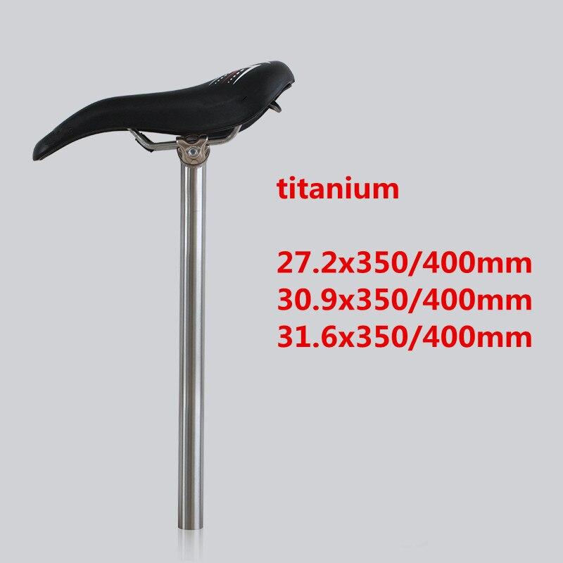 27.2 30.9 31.6 Titanium Bicycle Seatpost MTB Bike Ti Setback Seat post 350 400mm