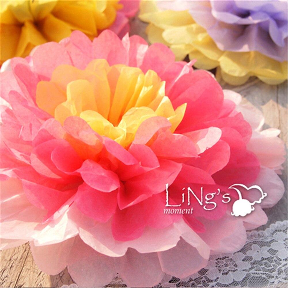 5 Colors 10inch25cm 5pieceslot Giant Tissue Paper Flower Rose