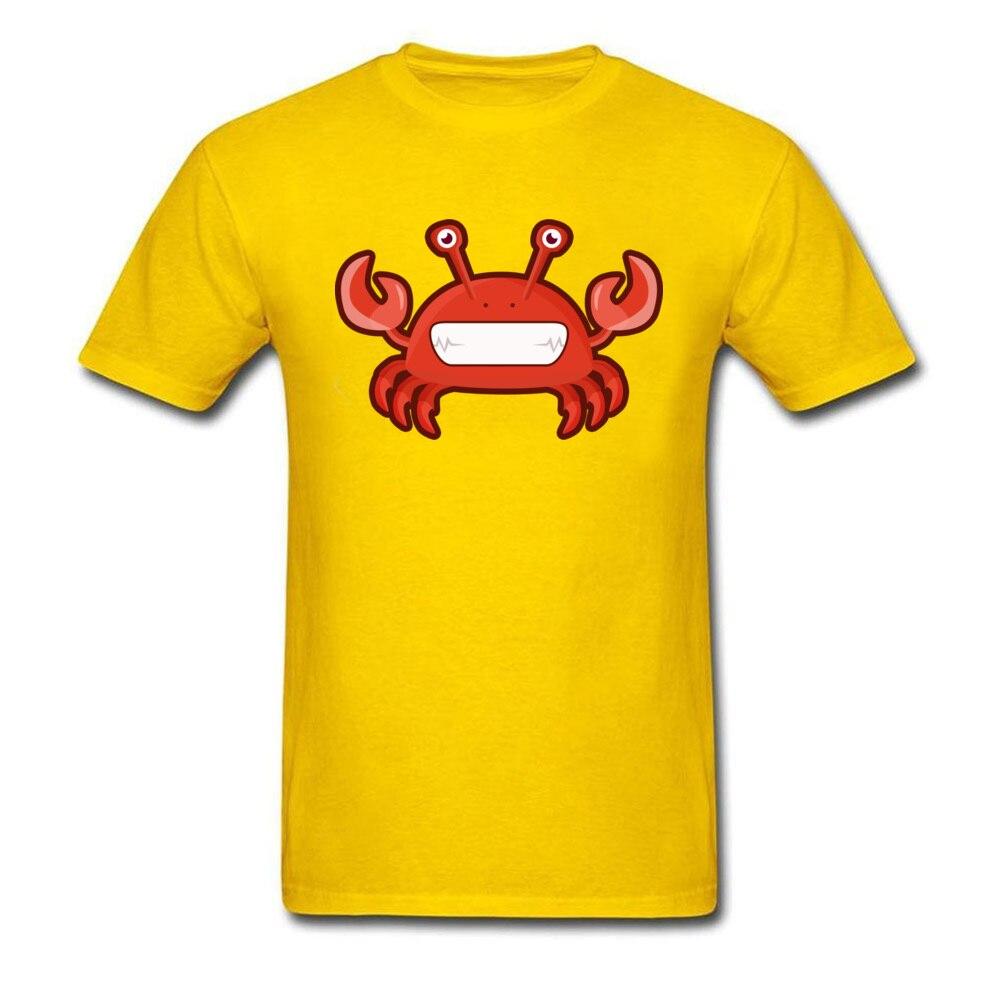 T Shirt Kawaii Crab Tops Shirt Summer Autumn 2018 Street Short Sleeve Pure Cotton Crewneck Men Tshirts Street Drop Shipping Kawaii Crab yellow