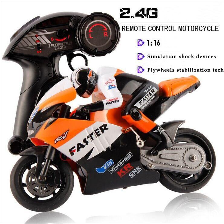 JXD 1 16 Scale 4CH 2 4G RC Motorcycle Boys Electric Toys CVT Radio Control Stunt