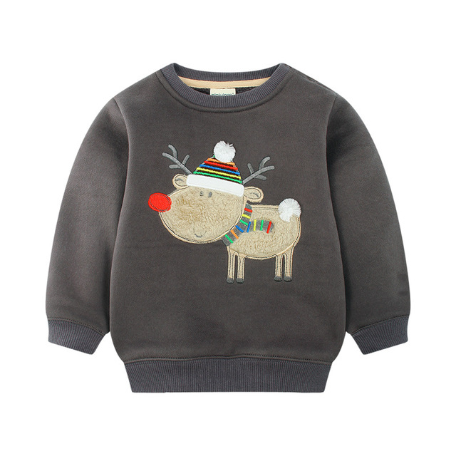 Cheap Spring/Autumn/Winter Baby Boys Thicken Cartoon Sweatshirts, Children's Girls Thick Sweater Clothes Casual Hooded