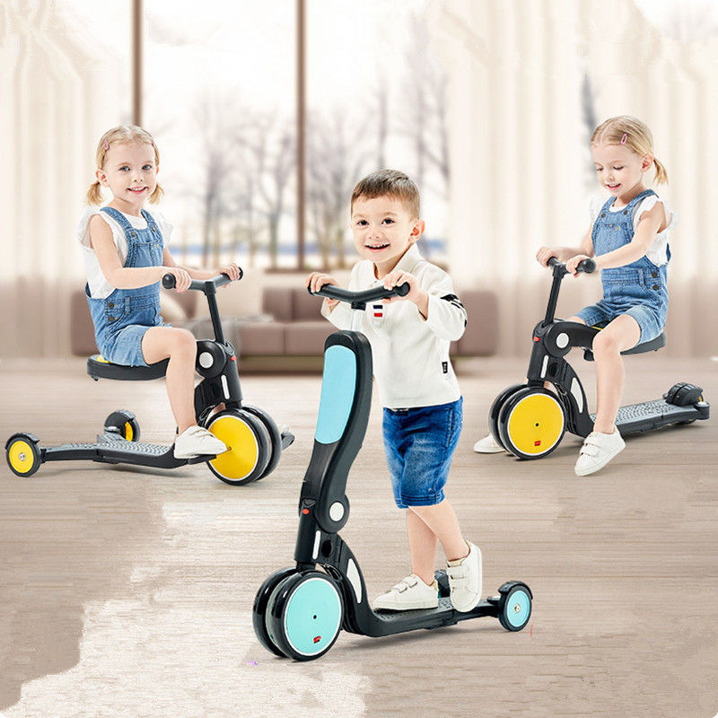 Children Scooter Tricycle Baby 5 In 1 Balance Bike Ride On ToysChildren Scooter Tricycle Baby 5 In 1 Balance Bike Ride On Toys