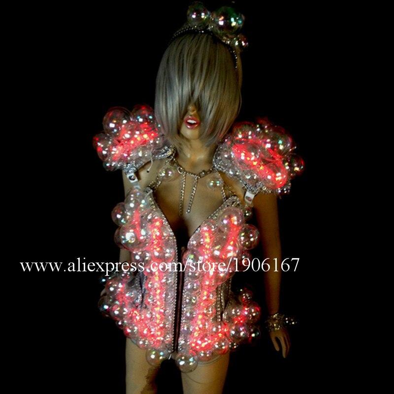 Neuer Entwurf führte Ballsaal-Frauen-Kostüm leuchtende reizvolle - Partyartikel und Dekoration - Foto 3