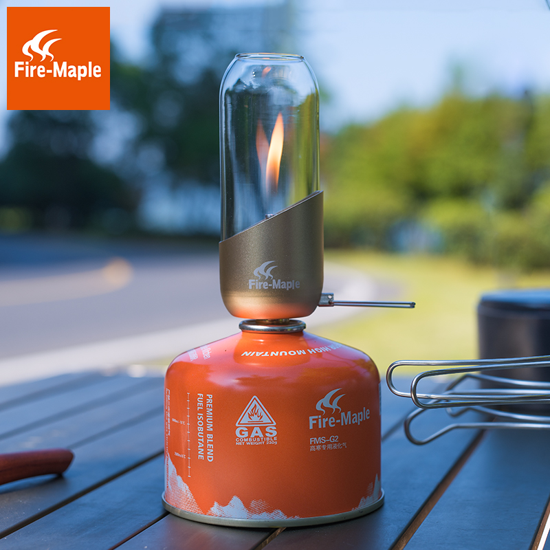 Radient Fire Maple Outdoor Portable Camping Light Gas Lighting Tent Gas Lamp And Lantern Gas Candle Fml-lol Delicious In Taste Campcookingsupplies Sports & Entertainment