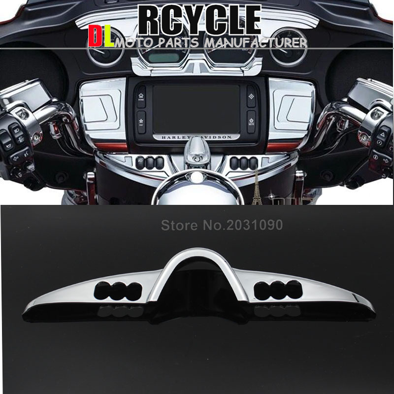 Chrome Fairing Switch Panel Dash Accent Cover for Harley Electra Street Glide