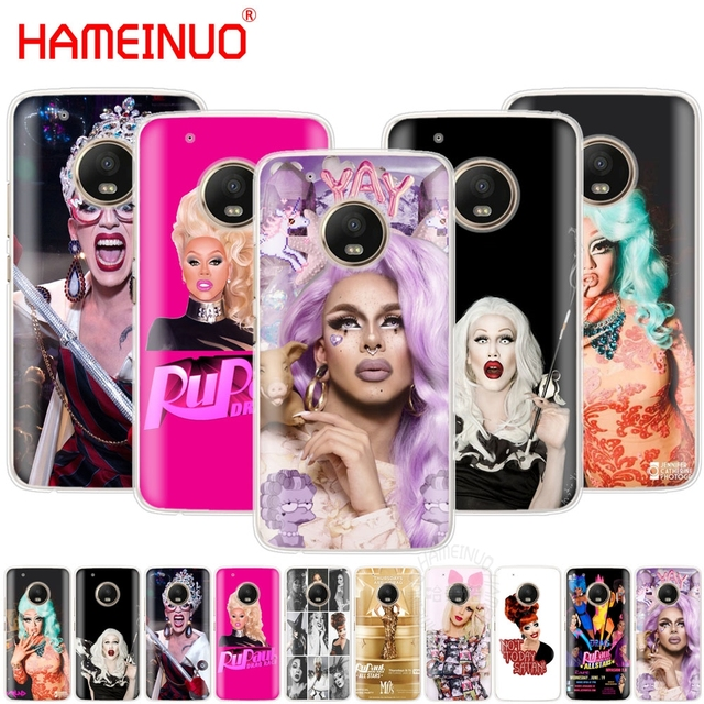 on sale ff9ca 9df1c US $1.93 34% OFF HAMEINUO RuPaul's Drag Race stars case phone cover For  Motorola Moto X4 E4 C G6 G5 G5S G4 Z2 Z3 PLAY PLUS-in Half-wrapped Case  from ...