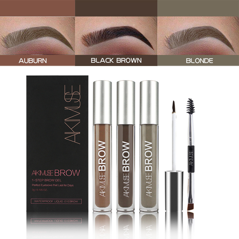AIKIMUSE Eyebrow Enhancers Tattoo Eyebrow Gel Tint Makeup Waterproof Easy to Wear Eyebrow Pomade Enhancer Eye Makeup