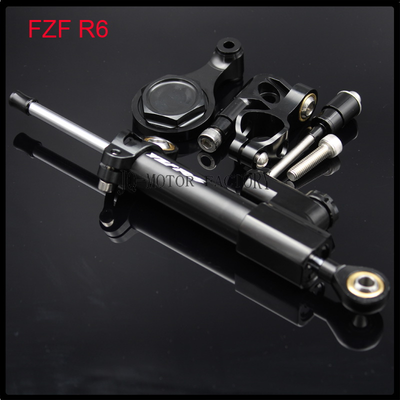 Universal CNC Steering Damper Stabilizer Mounting Bracket For YAMAHA YZF R6 2006 2015 R1 2009 2011
