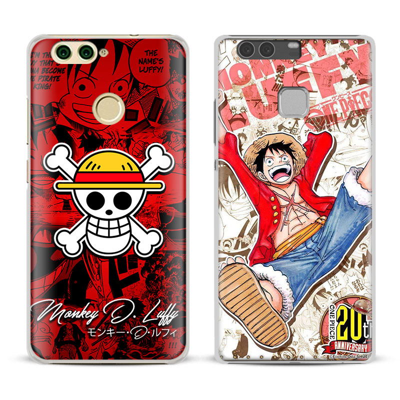 One Piece Monkey D Luffy Phone Case Cover Shell For Huawei P8 9 10 Lite 2017 Honor 6x 8 V8 V9 Mate 7 8 9 10 Pro Nova Plus 2