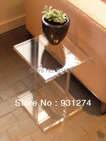 Acrylic I-Beam Side Table/Lucite Coffee Table/Plexiglass End Table/Perspex Flower Stand/Acrylic Furniture/Home Decor acrylic small coffee table side end tables bedside table living room furniture acrylic furniture