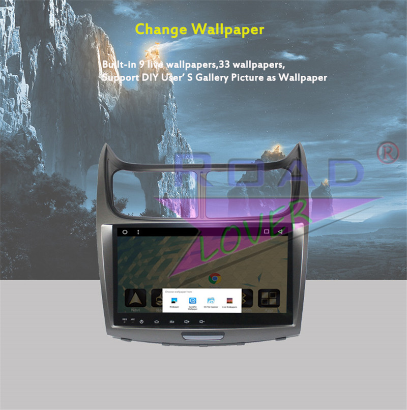2 din android car radio For Chevrolet Sail 2014