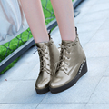 High-quality Women Casual Shoes Fashion Wedges Grey Red Black White Comfortable Shoes Woman US Size 4-10.5