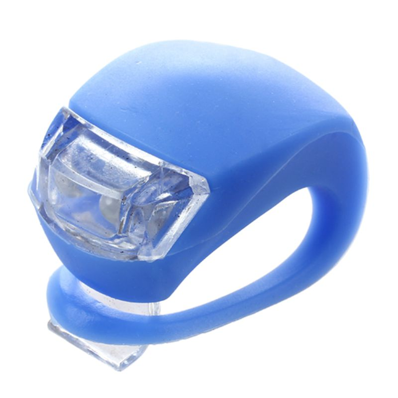 1 PCS Cycling Night Light Silicone Bike Bicycle Rear Wheel LED Flash Light Blue