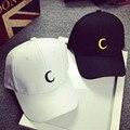 Высокое качество луна шапки Черный случайный бейсболка унисекс шляпа Солнца хип-хоп прохладно шляпы регулируемая марка snapback caps