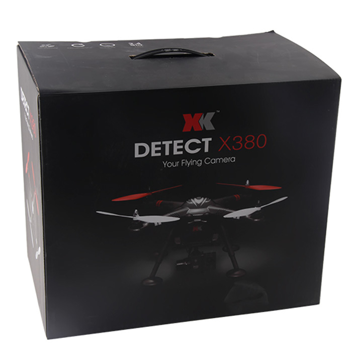 XK Detect X380 RC Helicopter GPS Headless Mode 2.4G RC Quadcopter 3D Hovering Brushless Motor Drone Dron Standard Version Drones