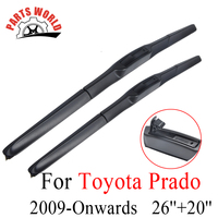 Windscreen Front Wiper Blades For Toyota Prado LC 150 2009 Onwards Fit Windshield Natural Rubber Wipers