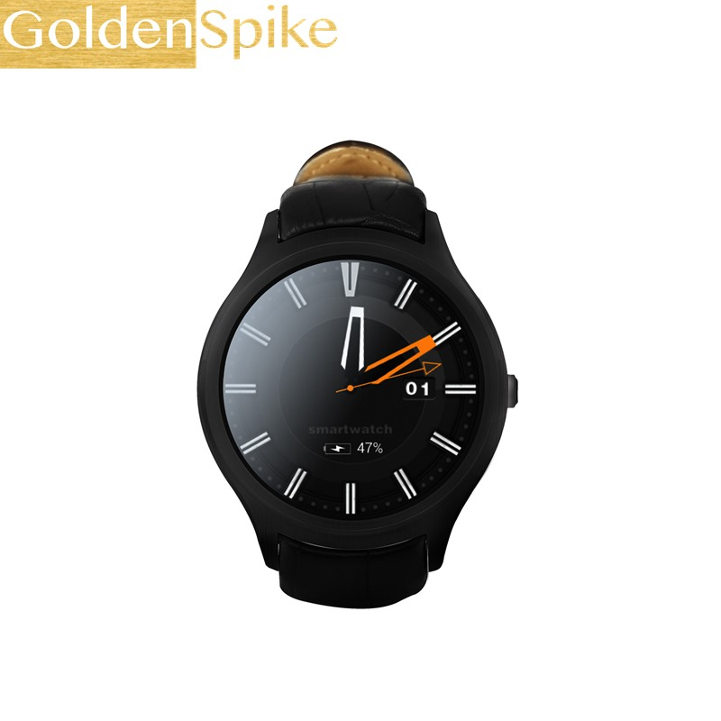 GoldenSpike D5+ Plus Smart Watch MTK6580 Quad Core 1GB+8GB Bluetooth Smartwatch Waterproof GPS Heart Rate Monitor Android Watch цена