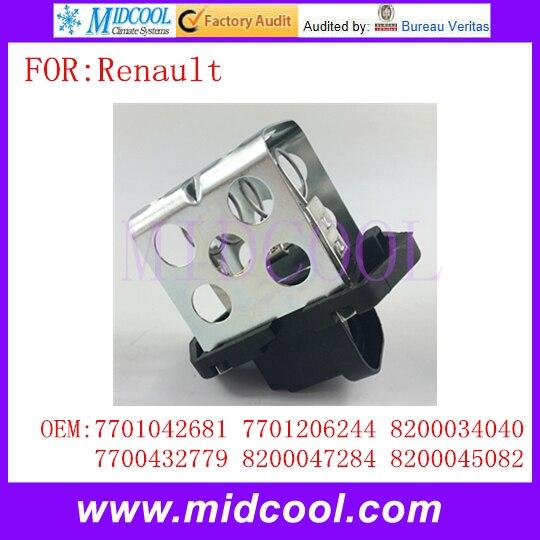New Heater Blower Motor Fan Resistor use OE NO. 7701042681 7701206244 8200034040 7700432779 8200047284 8200045082 for Renault