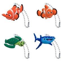 1pcs PVC Keychain Cartoon Figure Metal Ball Chain Key chain Christmas Gift Fashion Charms Trinkets