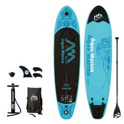 Deska surfingowa 330*75*10 cm sup pad AQUA MARINA pary nadmuchiwane SUP wstać wiosła pokładzie połowów kajak nadmuchiwane smycz siedzenia surf w Surfowanie od Sport i rozrywka na