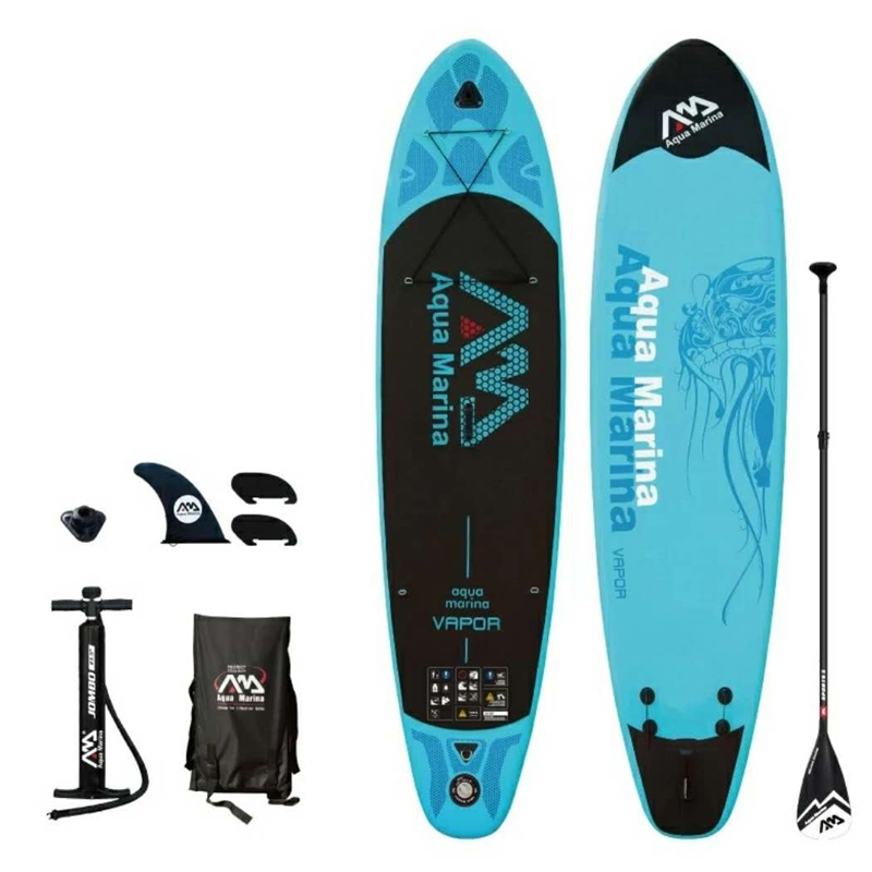 Prancha de surf 330*75*10 centímetros pad sup AQUA MARINA VAPOR SUP stand up paddle board inflável kayak de pesca inflável assento coleira de surf