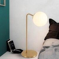 Современная Nordic настольные лампы прикроватная тумбочка для спальни освещения светодиодный Стол lights гостиная освещенность Главная светиль