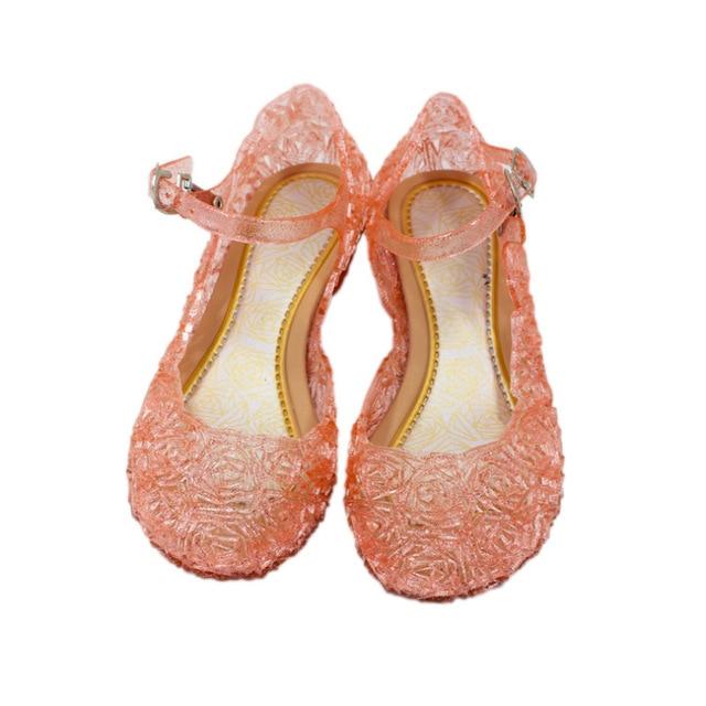 Ice Snow Shoes Elsa Crystal Shoes Cinderella Girls Princess Shoes Children 4