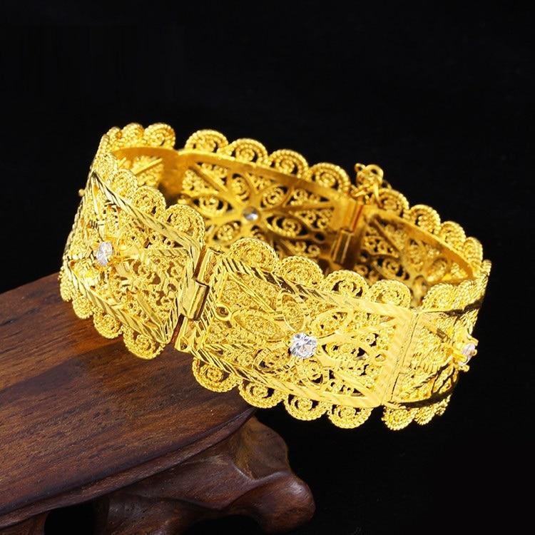 Vacuum color-preserving hollow bracelets Muslim Islam Middle East manufacturers direct processing customized Bracelets