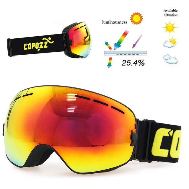 c3011a7989bf Ski Goggles Double Layers UV400 anti-fog big ski mask glasses skiing ...