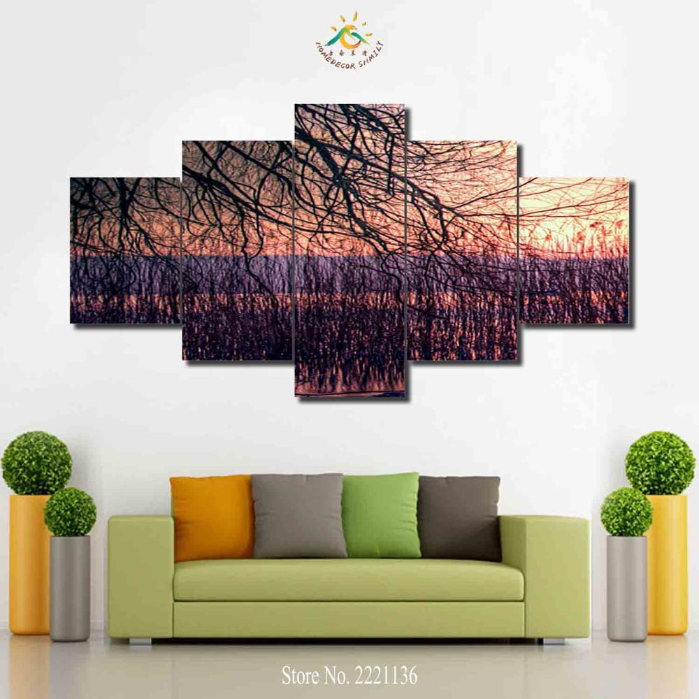 3 4 5 Pieces Tree Trunk Wall Art Canvas Painting Art Print Picture Frame Modern Pictures for Living Room Modern Pop Art Posters -in Painting u0026 Calligraphy ...  sc 1 st  AliExpress.com & 3 4 5 Pieces Tree Trunk Wall Art Canvas Painting Art Print Picture ...