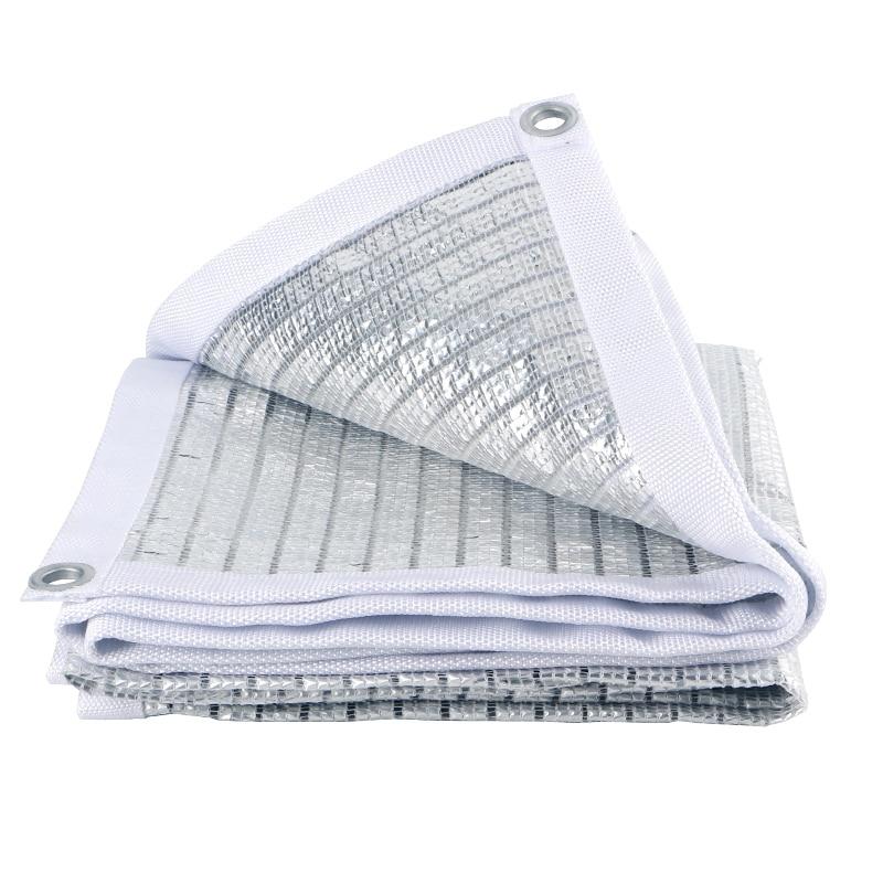 75% Reflective Aluminet Shade Cloth UV Resistant Sunblock Shade Net With Grommets Sun-Block Mesh Shade For Greenhouse Garden Pat