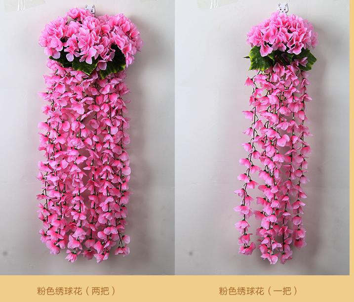 2pcs simulation hydrangea hanging plastic flowers hanging basket 2pcs simulation hydrangea hanging plastic flowers hanging basket wedding flower arch silk wholesale simulation guide in artificial dried flowers from home mightylinksfo