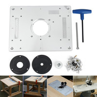 New 300 235mm Aluminum Router Table Insert Plate DIY Woodworking Benches For Popular Router Trimmers Models