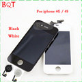 100% lcd test for iphone 4 4s display lcd com Tela de toque Digitador Assembléia & Home Button Flex Cable Garantia qualidade