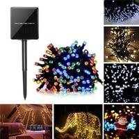 22M Solar Powered 8 Modes 200LED Fairy String Light Christmas Wedding Party Garden Decor Holiday lights