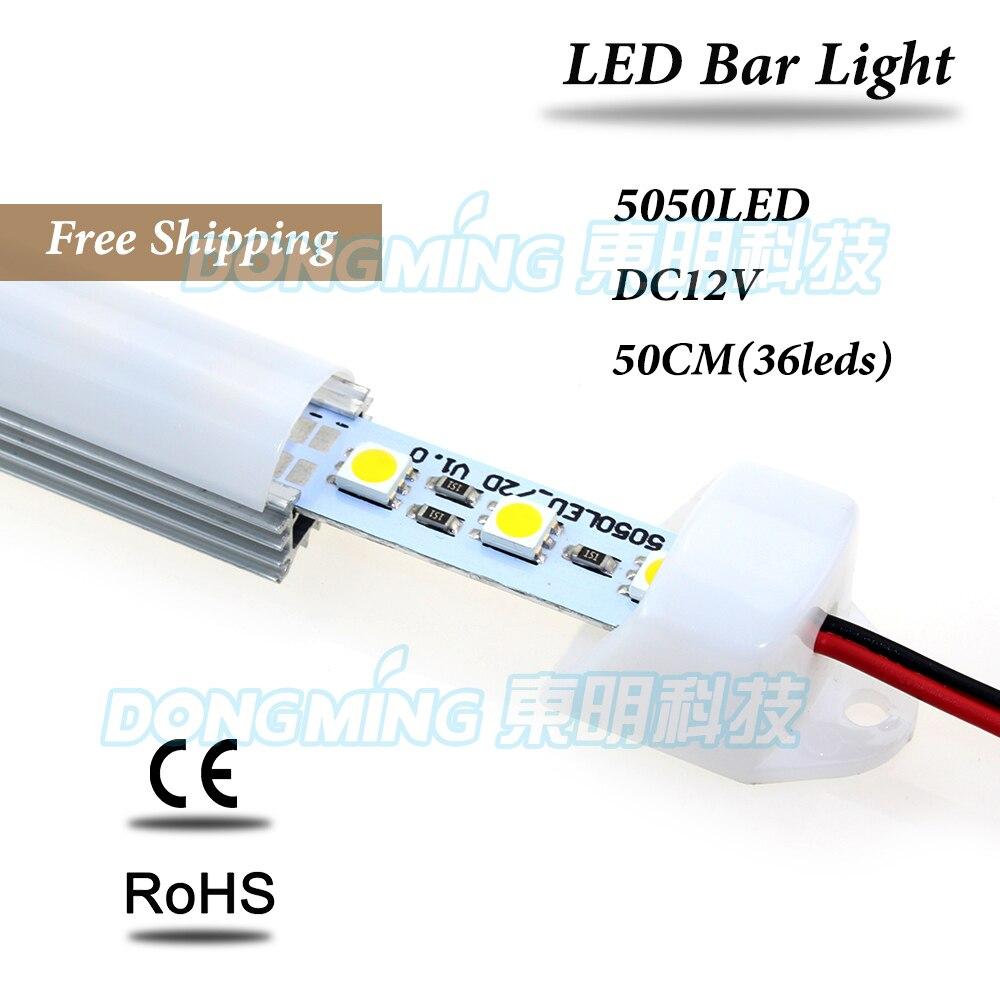 6 pcs u perfil de aluminio conduziu a luz do bar 50 cm 36 leds smd