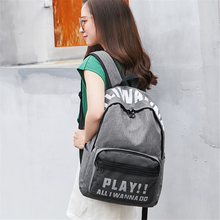Breathable small fresh school bag female high junior students campus simple art literary shoulder custom