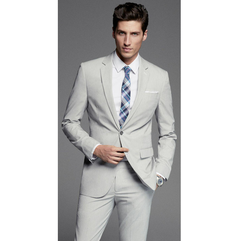 Hot New Time-limited Suits Formal Wedding Best Man Groomsmen Suit 2 Button Groom Tuxedos Business Men Wear (jacket +pants)