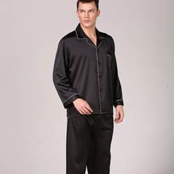 CEARPION для мужчин пятно пижамный комплект с длинным рукавом шелковистые пижамы мужской современный стиль Ночное Мягкая уютная Ночная рубашк