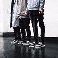 2017 Pantalones Largos de Los Hombres Casuales pantalones Deportivos Holgados pantalones de chándal Basculador Pantalones Pantalones cremallera streetwear hiphop Moda Equipada