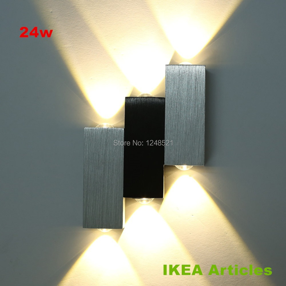Amazing modern w led wall light bathroom light high for Applique murale exterieure ikea