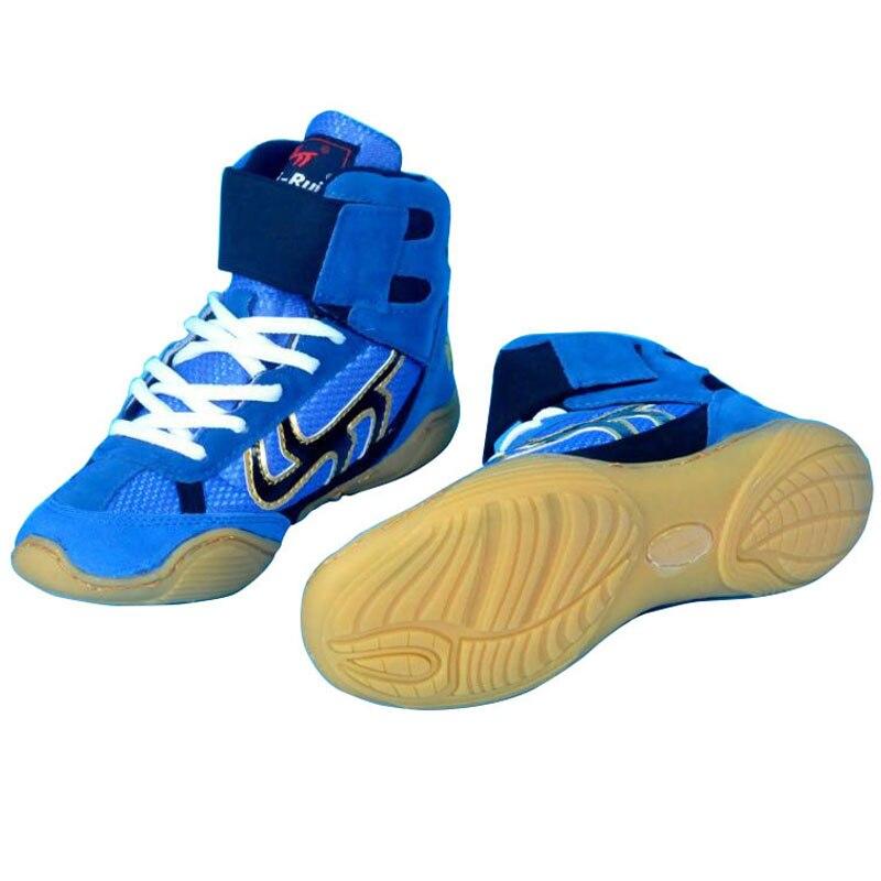 Hotsale Lutte chaussures léopard chaussures de boxe Adulte enfants formation baskets professionnel Grappling poinçon sac sport chaussures de boxe