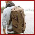 free shipping! large capacity men's travel bags mountaineering canvas bucket shoulder bag men's backpacks