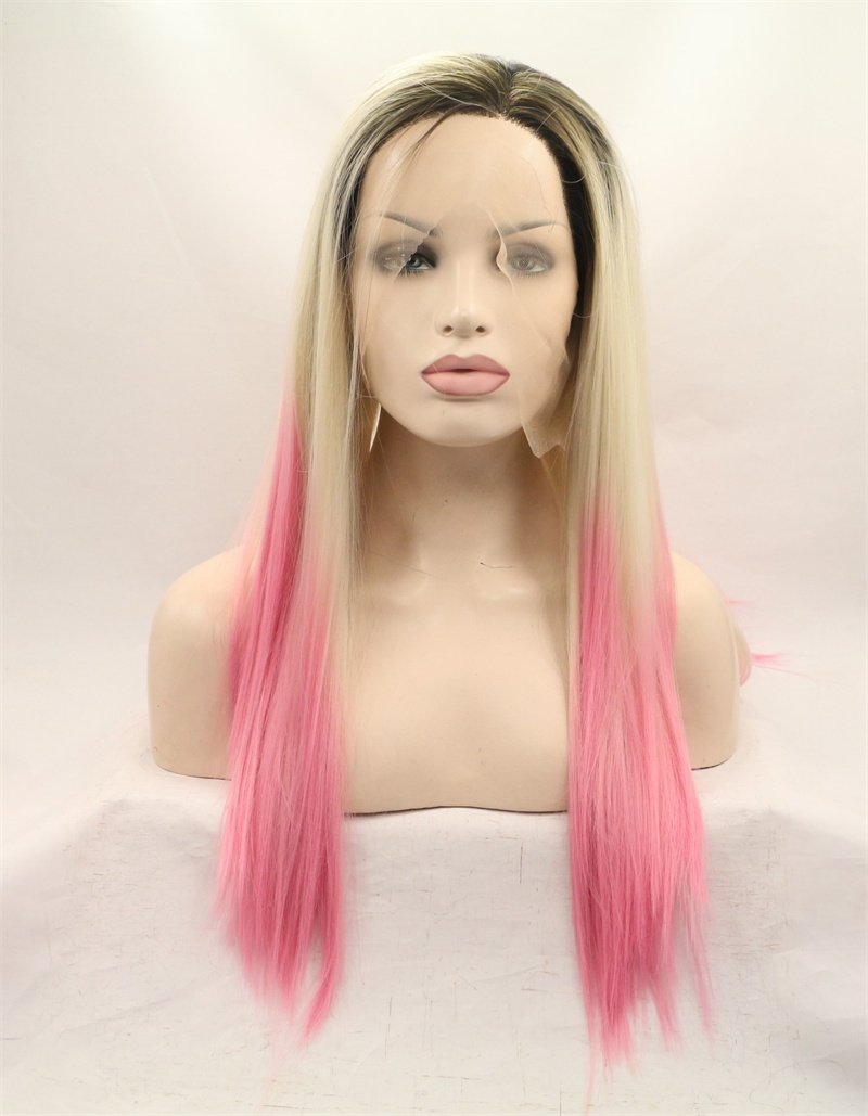 Dark Brown And Blonde Wigs 57