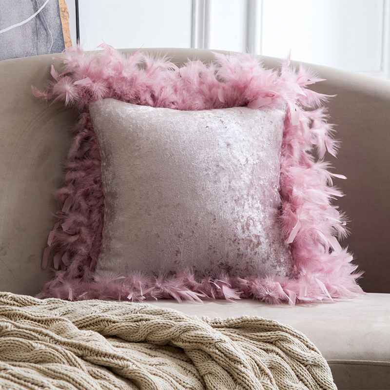 Decorative Luxury Throw Pillow Covers Velvet Elegant Pillow Cases Square Soft Pillow Shams Cushion Covers For Home Decoration