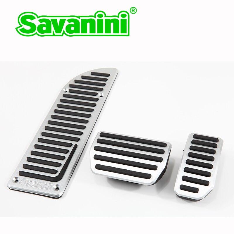 Volvo S60 Brake Pads: Savanini Aluminum Footrest Gas Brake Pedals Pad Kit For
